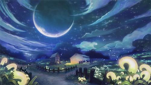 【夜晚的森林小木屋】