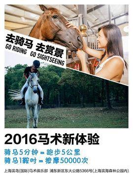 上海滨岛(国际)马术俱乐部2016零基础体验-需提前电话预约